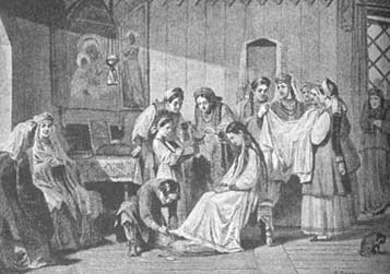 Одевание княжеской невесты